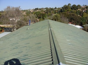 school roof painting before