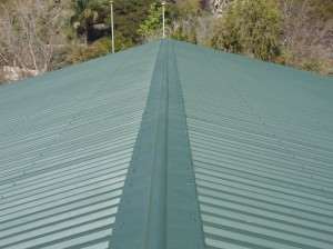 School roof painting after