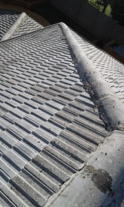 tiled roof before